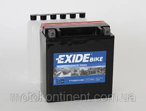 Аккумулятор для мотоцикла EXIDE  ETX20CH-BS = YTX20CH-BS  сухозаряженный AGM 118Ah 230A, фото 2