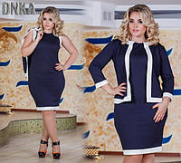 Женское платье с жакетом в расцветках ДГ788\3