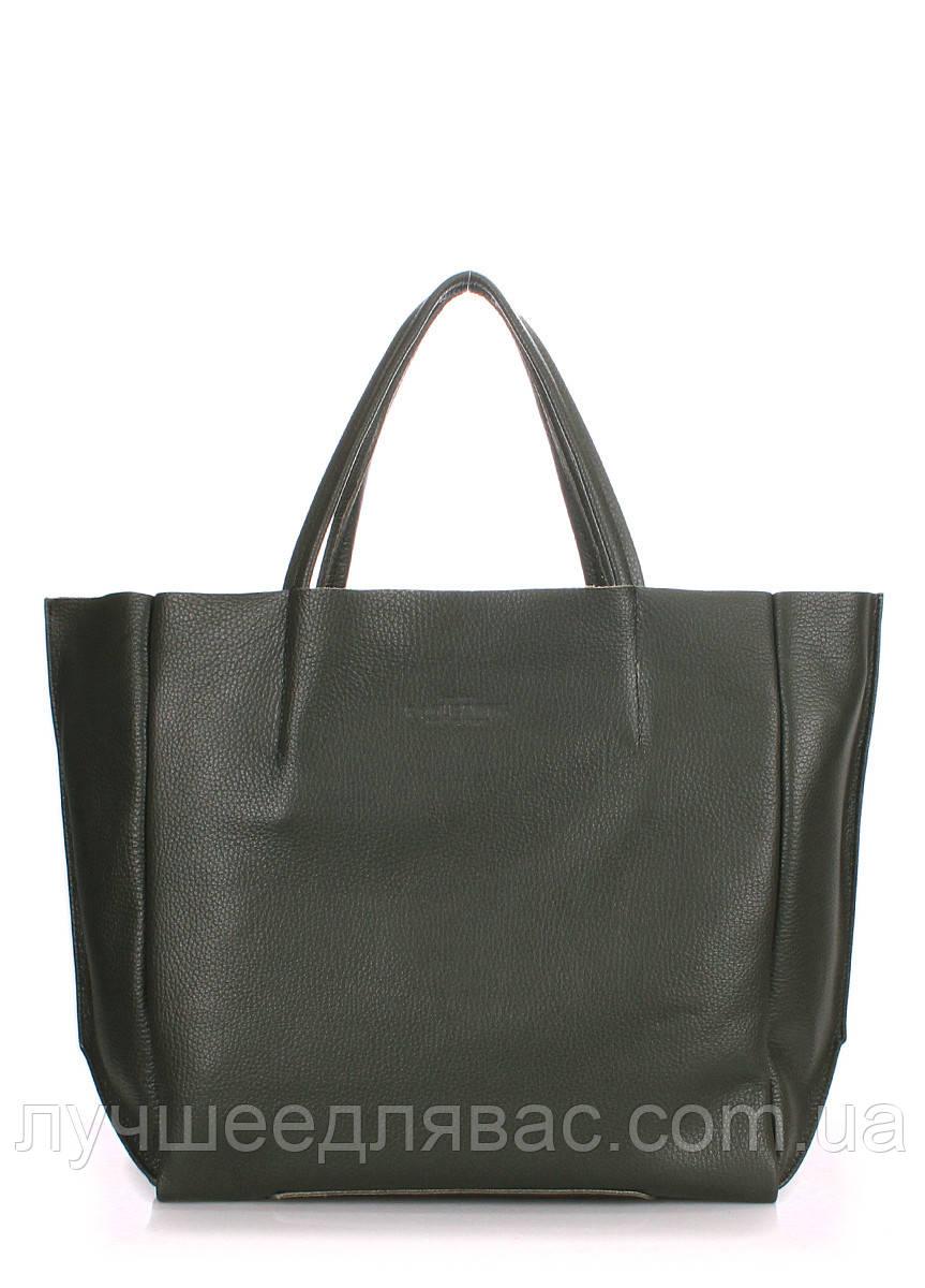 Кожаная сумка poolparty-soho-khaki, фото 1