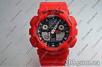 Casio GA-100B-4A Спортивные часы противоударные водонепроницаемые красные
