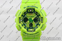 Спортивные часы Касио Casio G-Shock Ga-120 Салатовые Lime