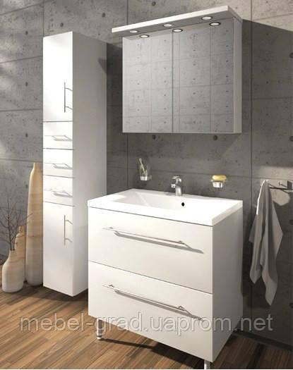 Комплект мебели для ванной Goa 80 Буль-буль белый