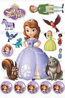 Печать съедобного фото - Формат А4 - Принцесса София - Вафельная бумага