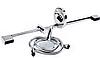 Душевая штанга L-82 см + ручной душ Imprese Dobrany 8210003, фото 3