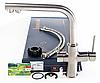 Смеситель для кухонной мойки Imprese Daicy с подключением питьевой воды (сатин) 55009S-F, фото 2