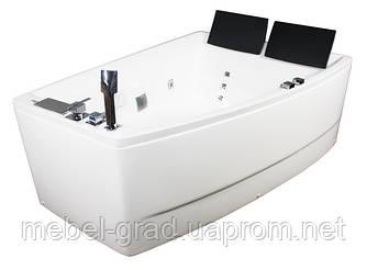 Ванна асиметрична гідромасажна Volle 12-88-100/R 170х120 права
