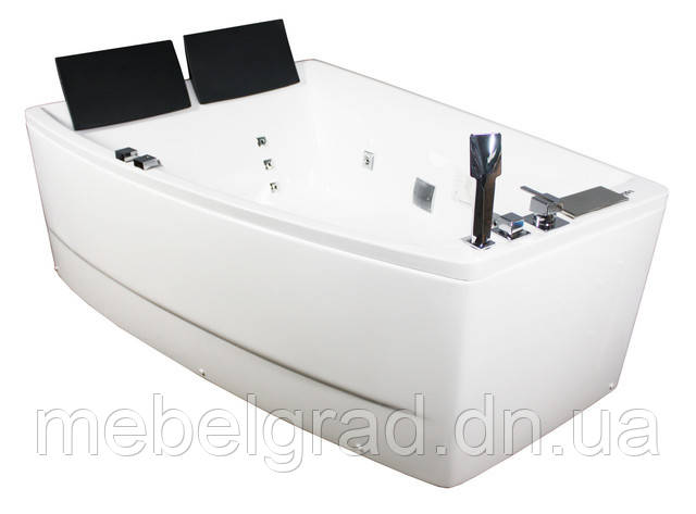 Ванна асимметричная гидромассажная Volle 12-88-100/L 170х120 левая