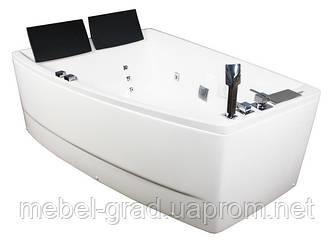 Ванна асиметрична гідромасажна Volle 12-88-100/L 170х120 ліва