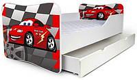 Кровать с ящиком для белья 180х80 машинки Nobiko