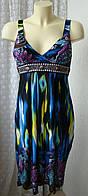 Платье сарафан женское легкое летнее модное яркое бренд TU р.42-44 5907а