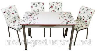 Обеденный набор с раскладным столом Розы Лотос-М
