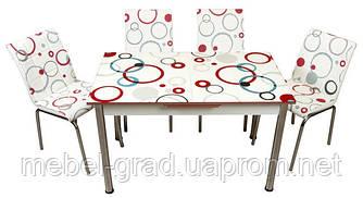 Обеденный набор с раскладным столом Круги Лотос-М