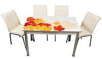 Обеденный набор с раскладным столом Кленовый лист Лотос-М
