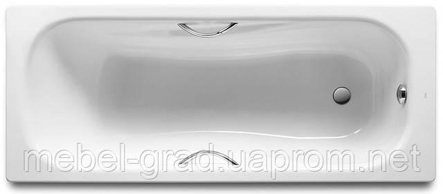 Ванна стальная Roca Princess с ручками и ножками 160х75 см 220370001