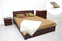 Кровать двухспальная с подъемным механизмом София из массива бука Микс Мебель