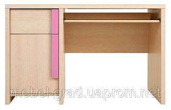 Стол письменный BIU 120 Капс / Caps BRW Польша розовый-дуб беллуно