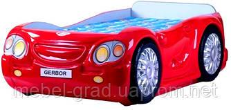 Кровать - машинка с матрасом Лео Гербор красный