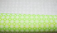 Крафт-бумага подарочная (для цветов) Салатовая клетка 10 м/рулон