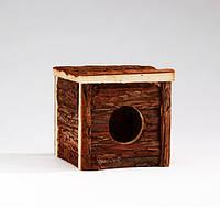 Домик  деревянный Pet Pro ФОРЕСТ КЛАССИК для грызунов, вишня