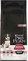 Корм для собак Pro Plan Puppy Medium Sensitive, с лососем, 12 кг