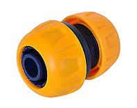 Ремонтный соединитель пластиковый для шланга, 1 / 2-3 / 4, Verano (арт. 72-147)