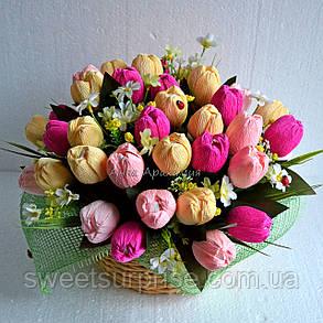 """Букет з цукерок """"Тюльпани до 8 березня"""", фото 2"""