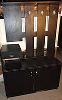 """Вешалка - """"Прихожая"""" - мебельный комплект из 5 наименований, шпонированная, вскрыта черным лаком"""