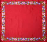 Илитон вышитый цветными нитками, ткань королевский атлас