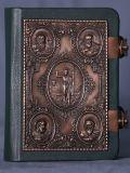 Евангелие малое, кожа (бронза) №04