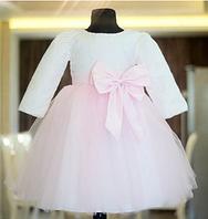 Детское красивое платье с длинным рукавом. от 6мес до 5 лет