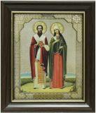 Икона свв.муч.Киприана и Иустинии