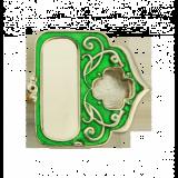 Мощевик серебряный с эмалью №02