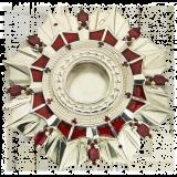 Мощевик серебряный с эмалью №03