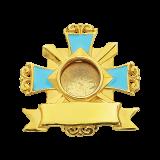 Мощевик серебряный с эмалью №01