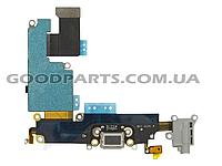 Разъем зарядки со шлейфом HF для iPhone 6 Plus серый (Оригинал)