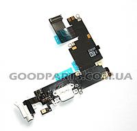 Разъем зарядки со шлейфом HF для iPhone 6 Plus белый (Оригинал)