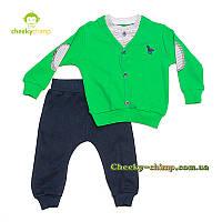 Детский костюм на мальчика зеленый , фото 1