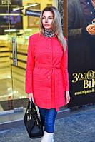 Элегантное кашемировое женское пальто на пуговицах, с поясом. Красивые цвета