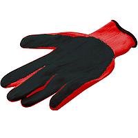 Перчатки стрейчевые красные с нитриловым покрытием, размер ХХL (мужские)