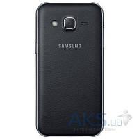 Задняя часть корпуса (крышка аккумулятора) Samsung J200H Galaxy J2 Original Black Leather