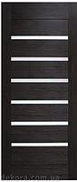 Двери Омис Лагуна ПВХ   с черным или белым стеклом