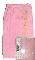 Женский набор для бани и сауны Merzuka Светло-розовый(Сарафан+Чалма+Тапочки)