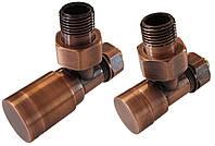 Комплект клапанов ELEGANT угловой античная медь