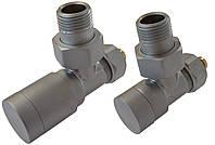 Комплект клапанів ELEGANT кутовий сталь матовий