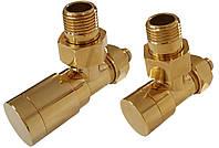 Комплект клапанів ELEGANT кутовий золото