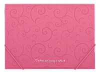 Папка А4 на рез., пласт. Barocco BM.3914-10 (рожев)
