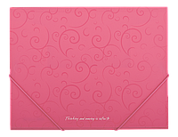 Папка А5 на рез., пласт. Barocco BM.3902-10 (рожев)