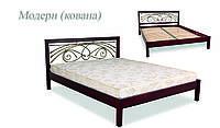 Кровать деревянная Модерн ковка ДОК