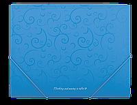 Папка А5 на рез., пласт. Barocco BM.3902-14 (голуб)