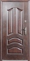Стандартная входная металлическая дверь Сезон Плюс Тёплый стандарт 107+ бархатный лак 960